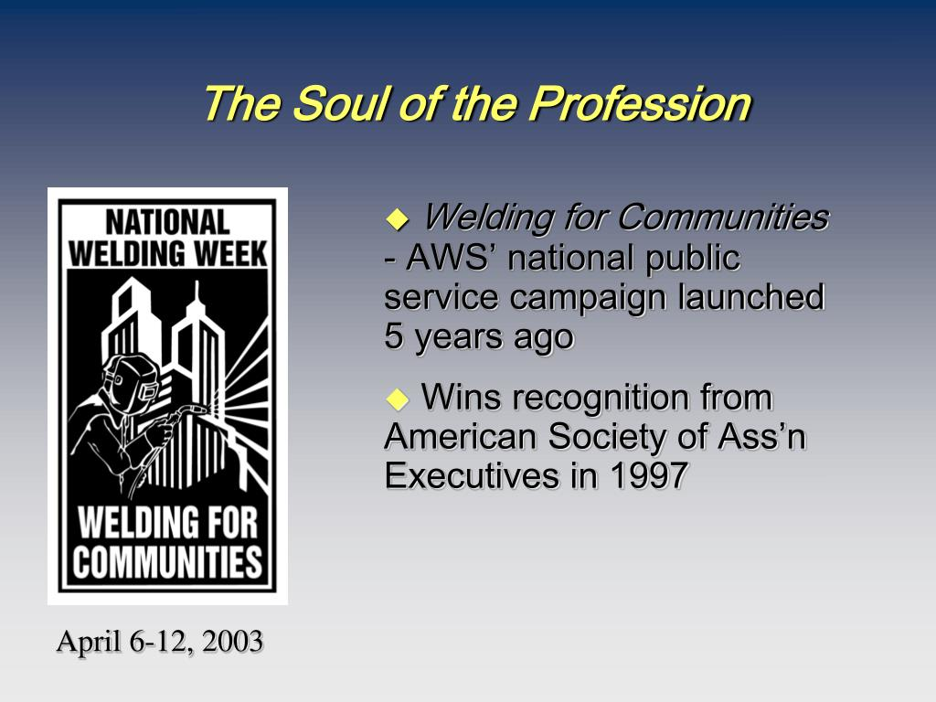 The Soul of the Profession