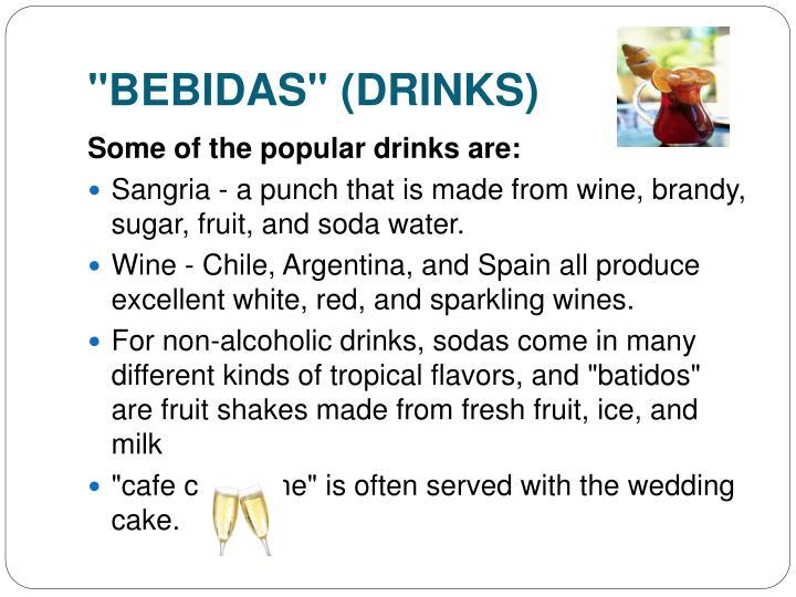 """""""BEBIDAS"""" (DRINKS)"""