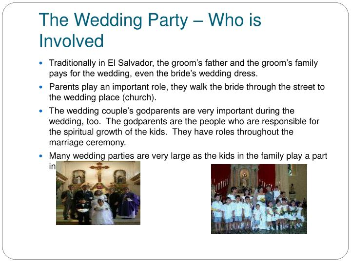 The Wedding Party – Who is Involved