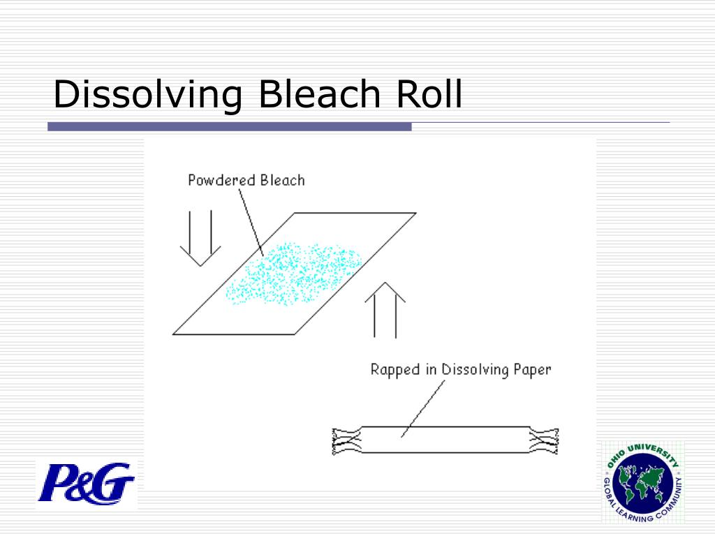 Dissolving Bleach Roll