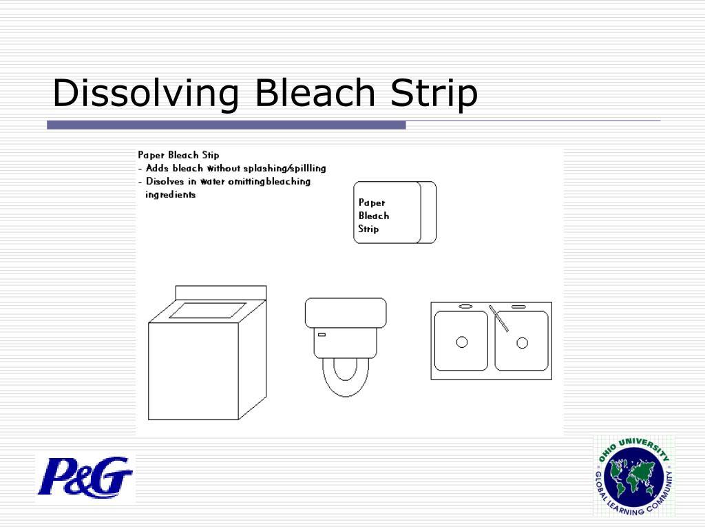 Dissolving Bleach Strip