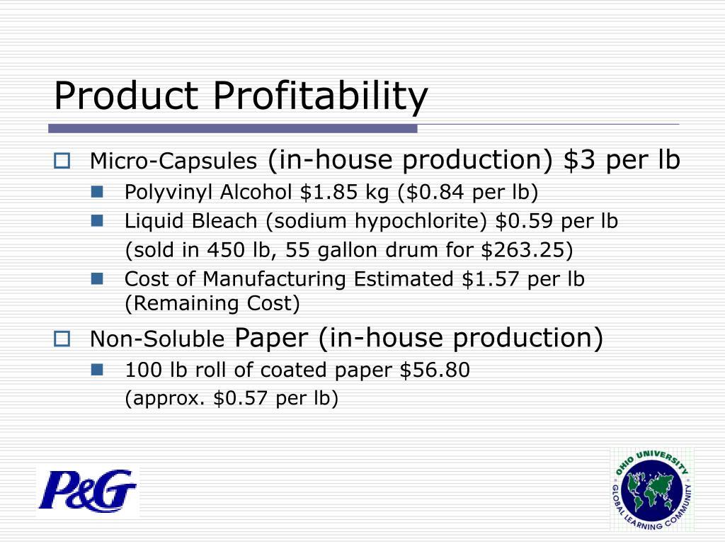 Product Profitability