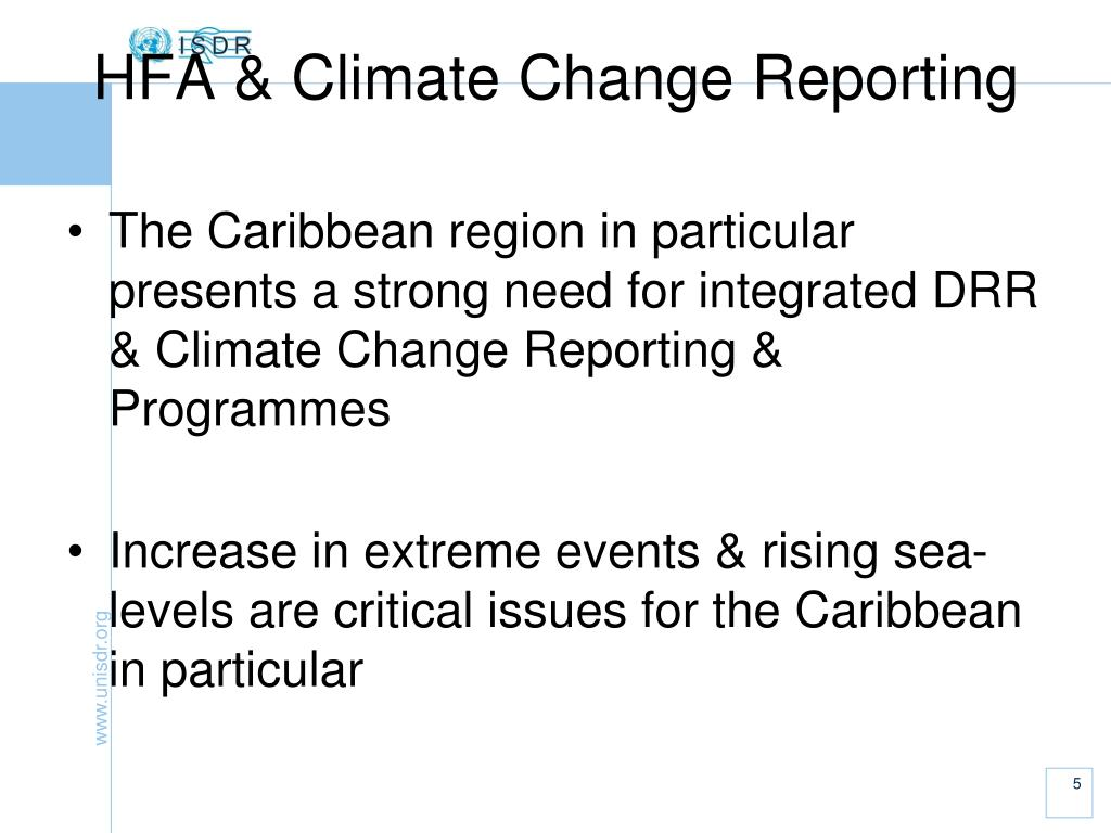 HFA & Climate Change Reporting