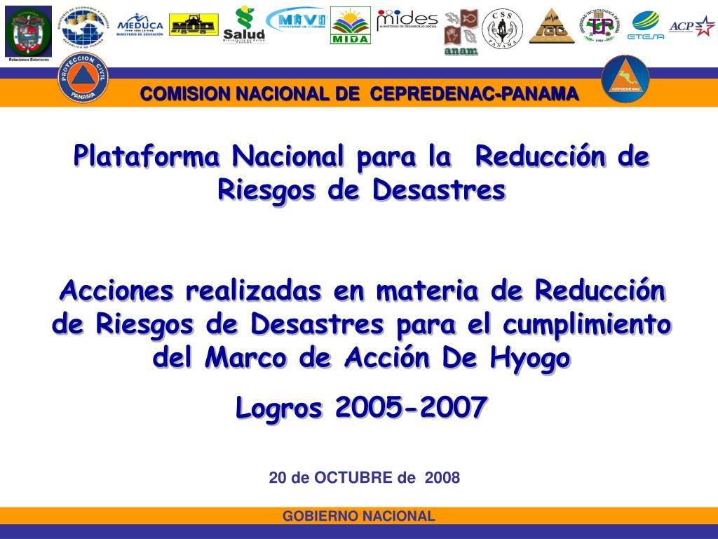 COMISION NACIONAL DE  CEPREDENAC-PANAMA