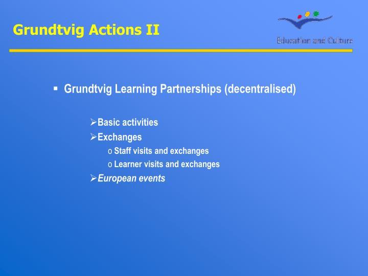 Grundtvig Actions II