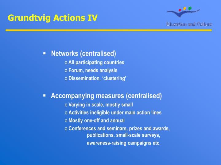 Grundtvig Actions IV