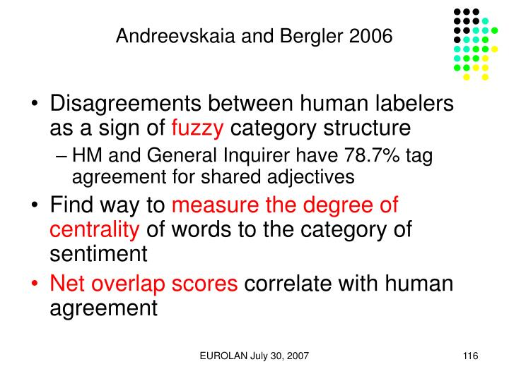 Andreevskaia and Bergler 2006