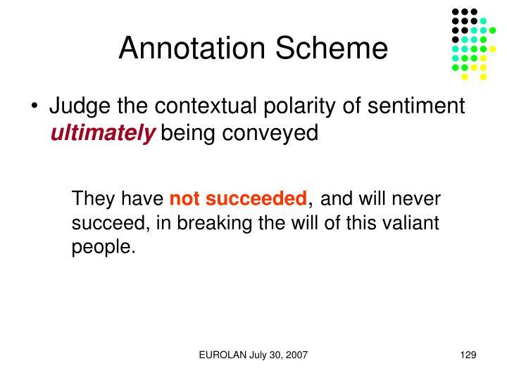 Annotation Scheme