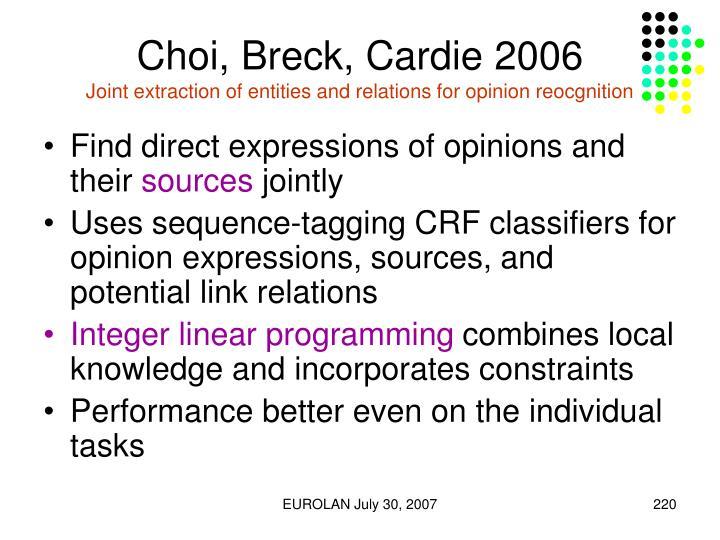 Choi, Breck, Cardie 2006