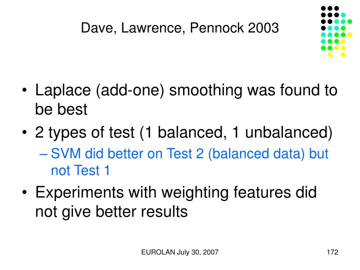 Dave, Lawrence, Pennock 2003