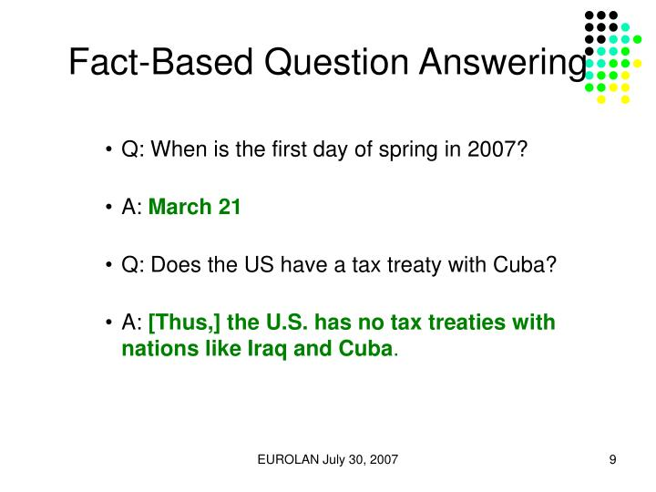Fact-Based Question Answering