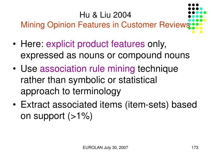 Hu & Liu 2004