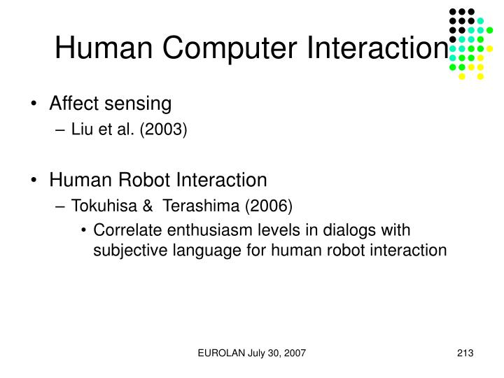 Human Computer Interaction