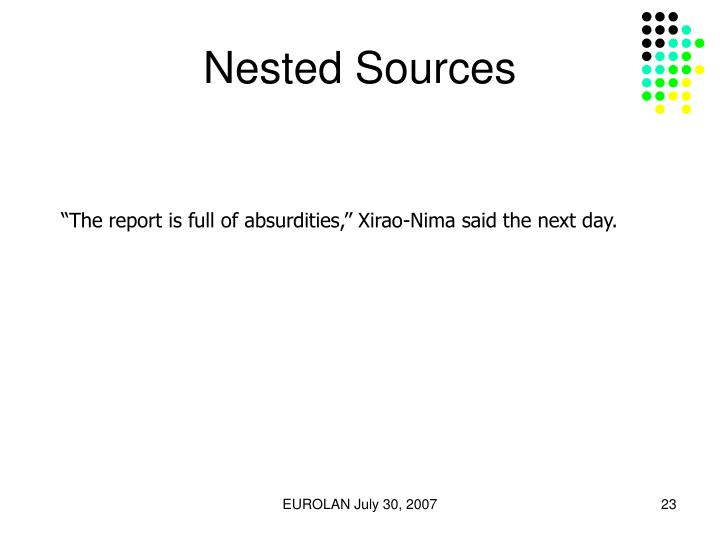 Nested Sources