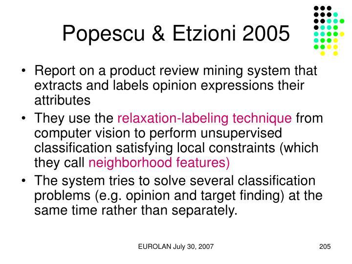 Popescu & Etzioni 2005