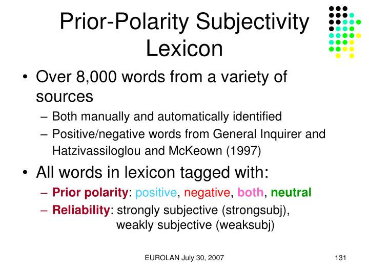 Prior-Polarity Subjectivity Lexicon