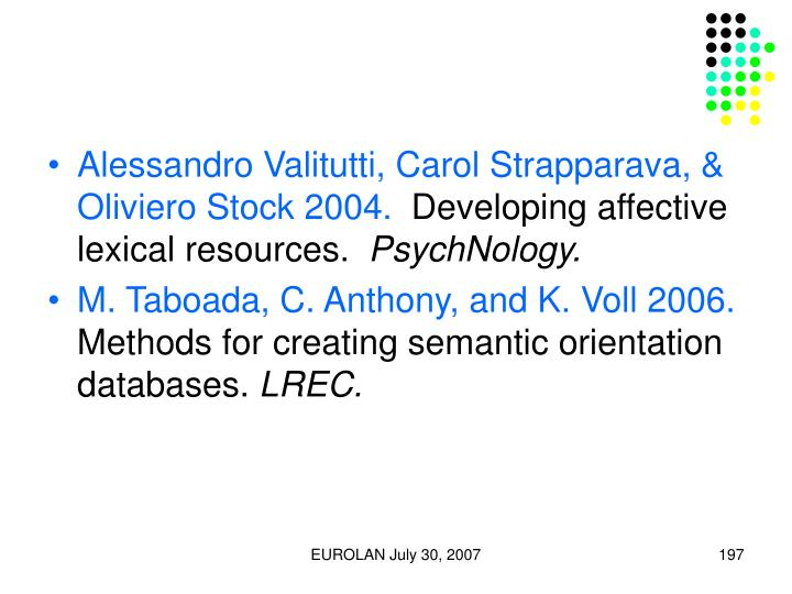 Alessandro Valitutti, Carol Strapparava, & Oliviero Stock 2004.