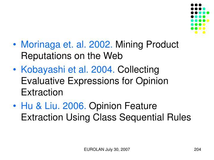 Morinaga et. al. 2002.