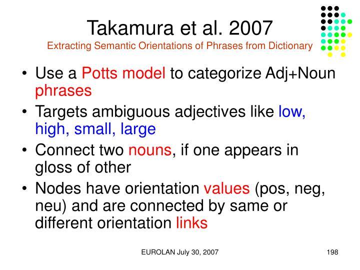 Takamura et al. 2007