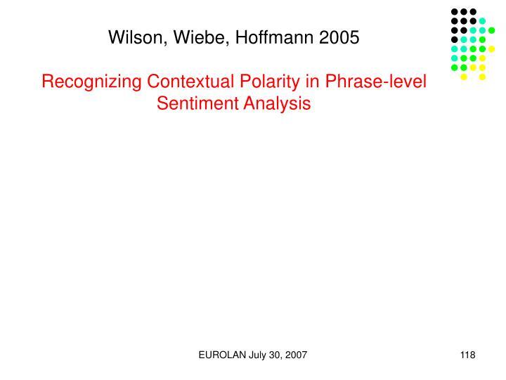 Wilson, Wiebe, Hoffmann 2005