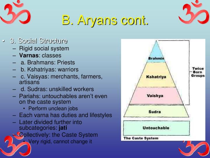 B. Aryans cont.
