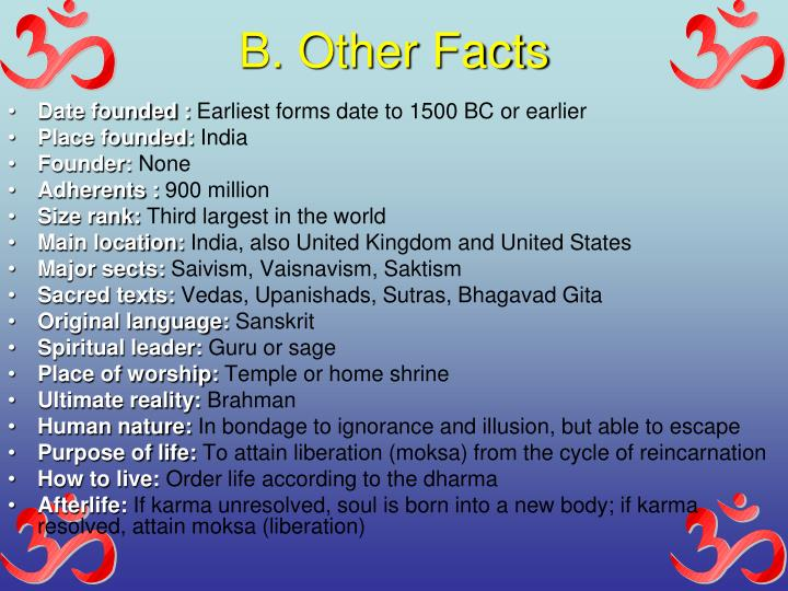 B. Other Facts