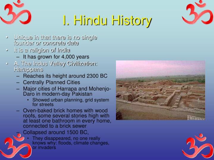 I. Hindu History