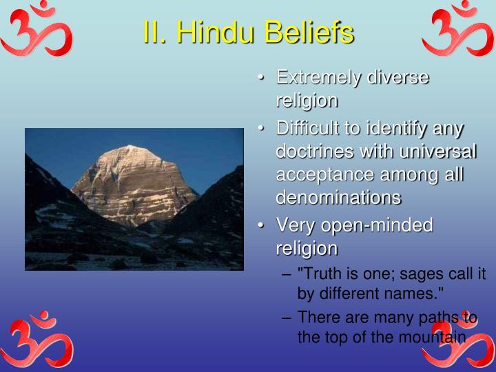 II. Hindu Beliefs