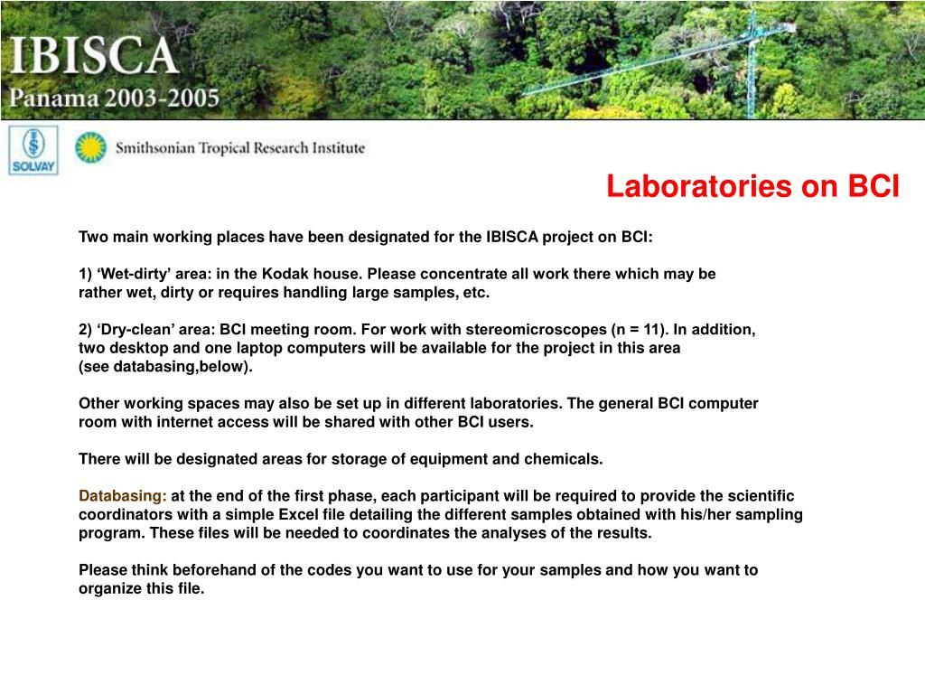 Laboratories on BCI