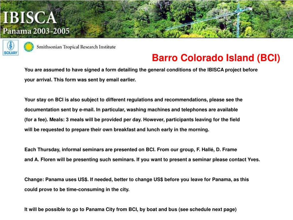Barro Colorado Island (BCI)
