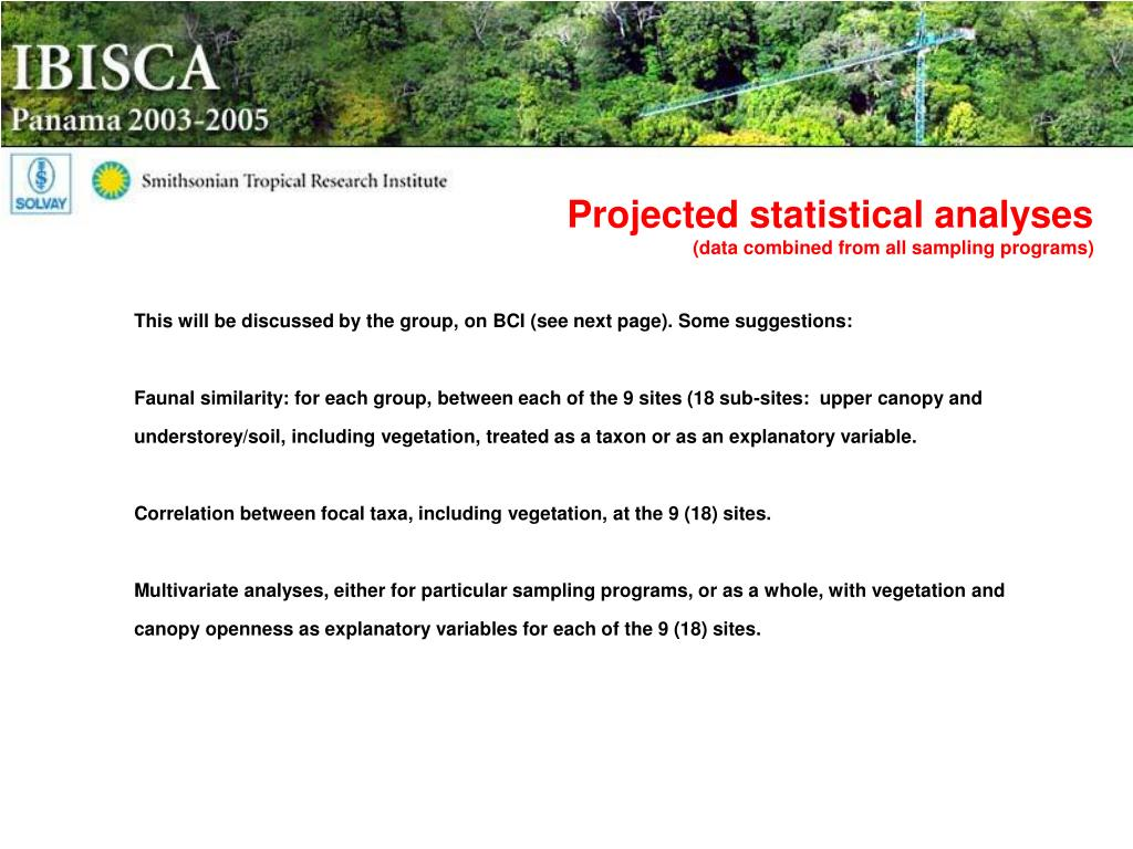 Projected statistical analyses