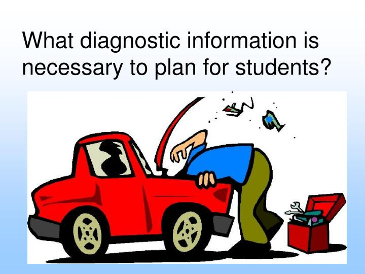 What diagnostic information is