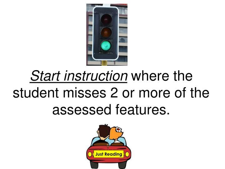 Start instruction