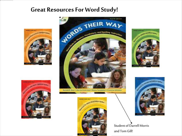 Great Resources For Word Study!