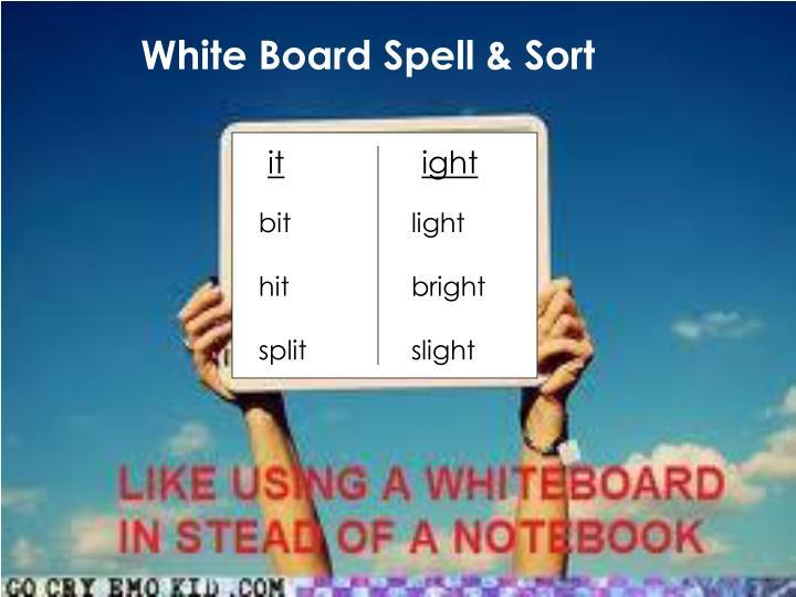 White Board Spell & Sort
