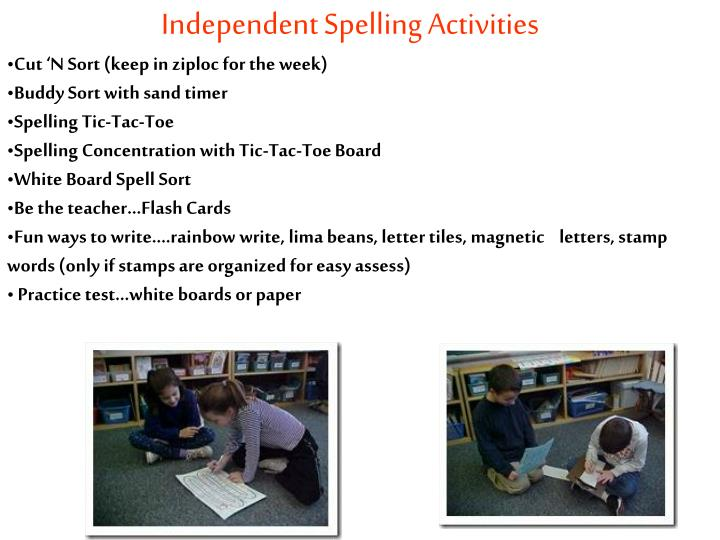 Independent Spelling Activities