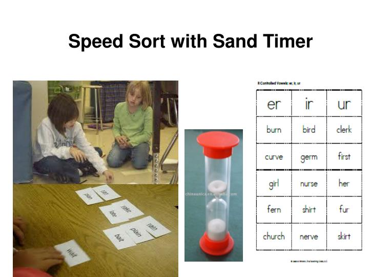 Speed Sort with Sand Timer