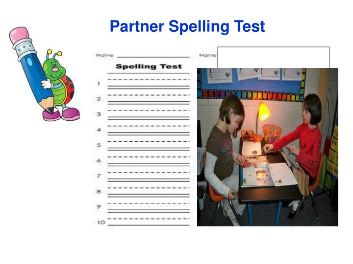 Partner Spelling Test