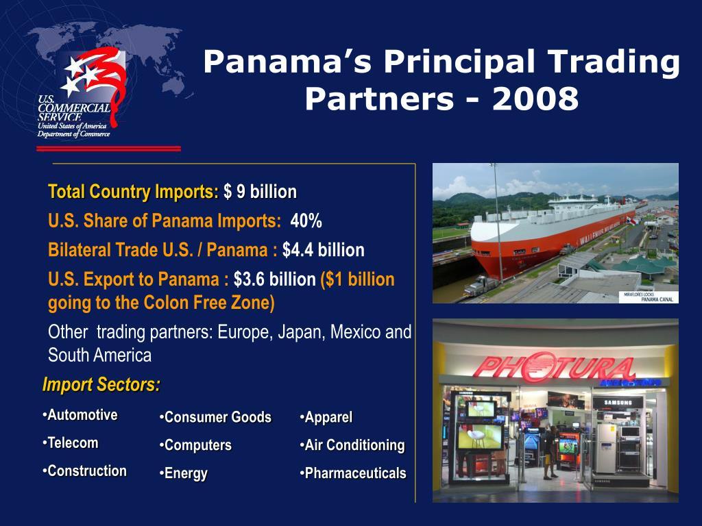 Panama's Principal Trading Partners - 2008