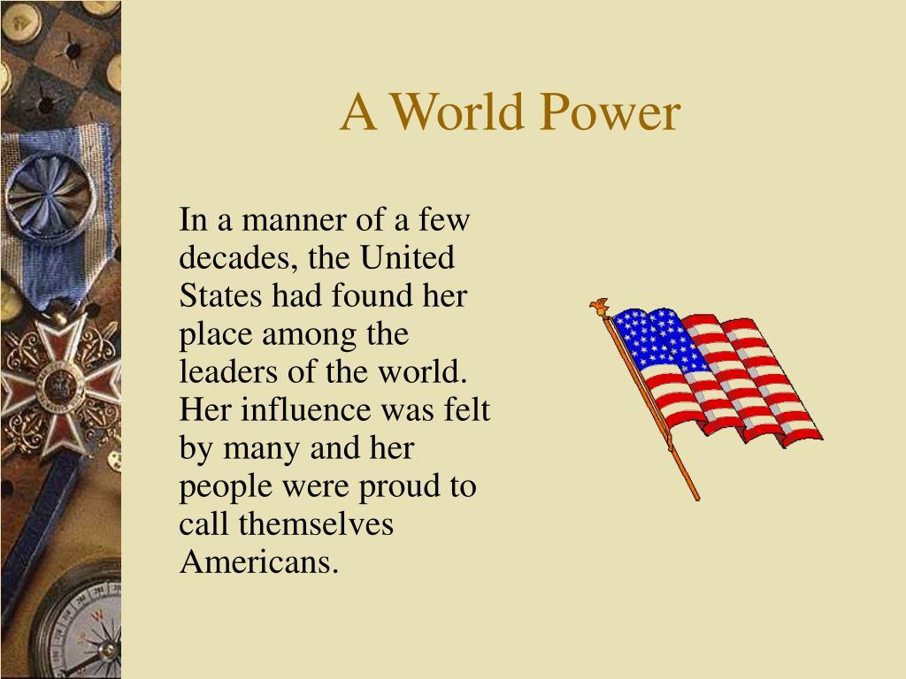 A World Power