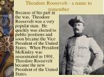 theodore roosevelt a name to remember