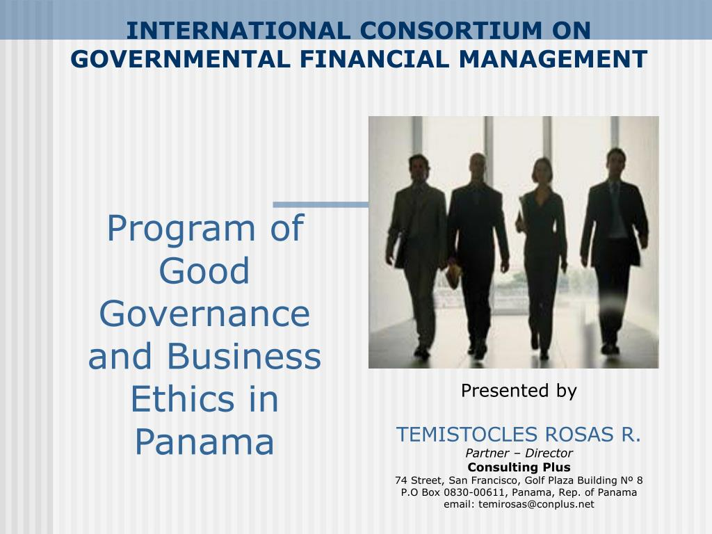 international consortium on governmental financial management