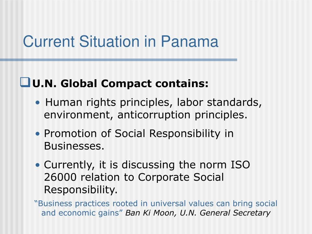Current Situation in Panama