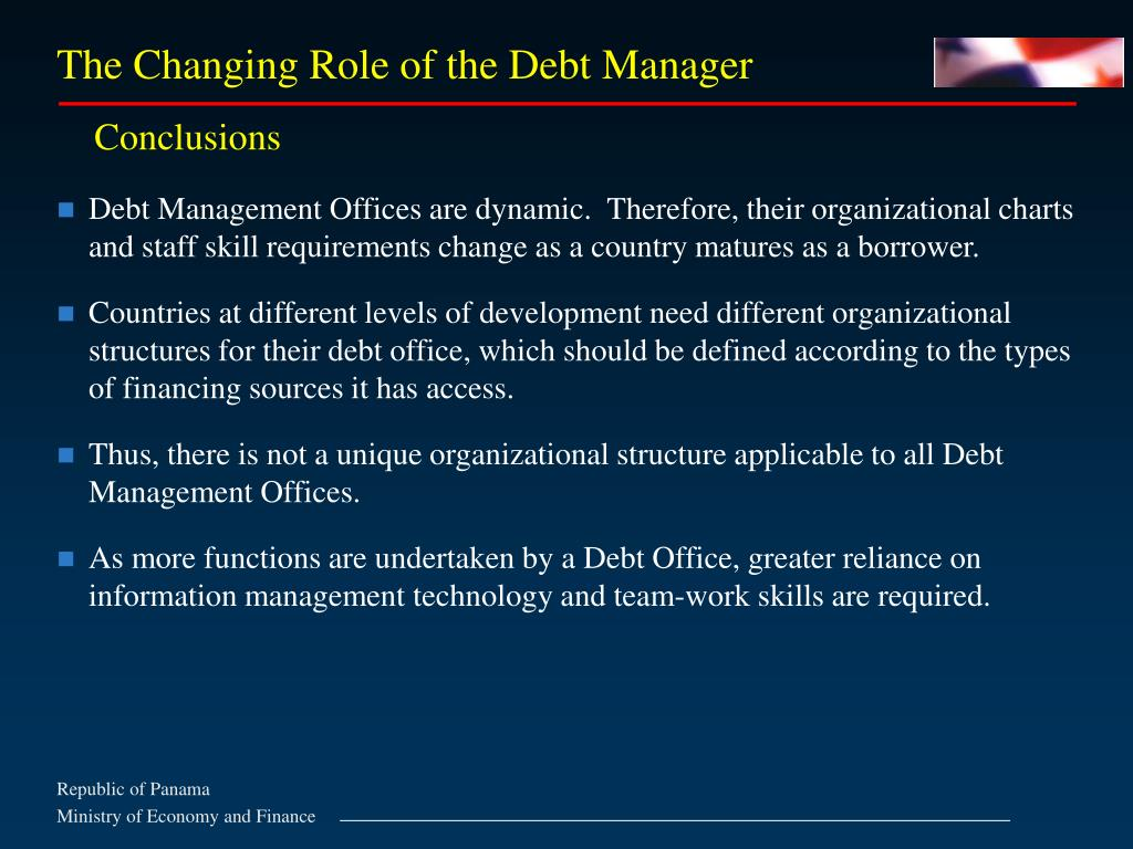 The Changing Role of the Debt Manager