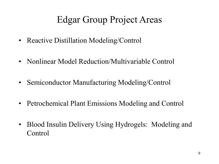 Edgar Group Project Areas