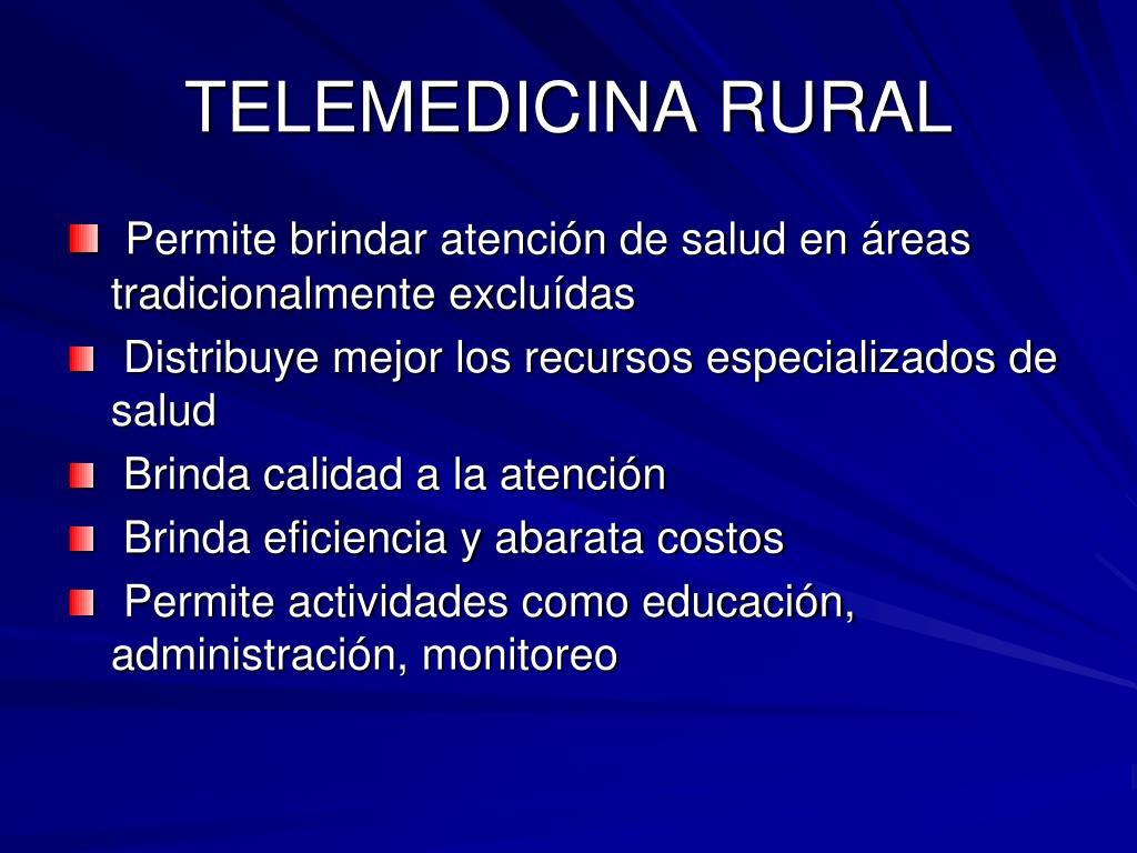 TELEMEDICINA RURAL