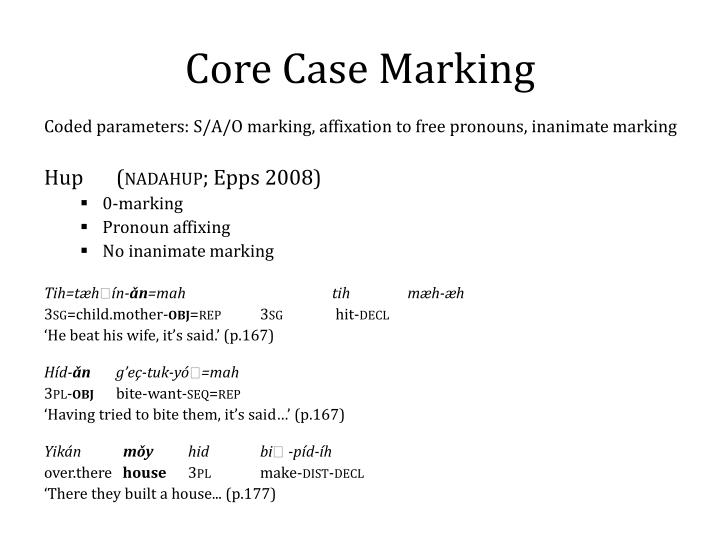Core Case Marking