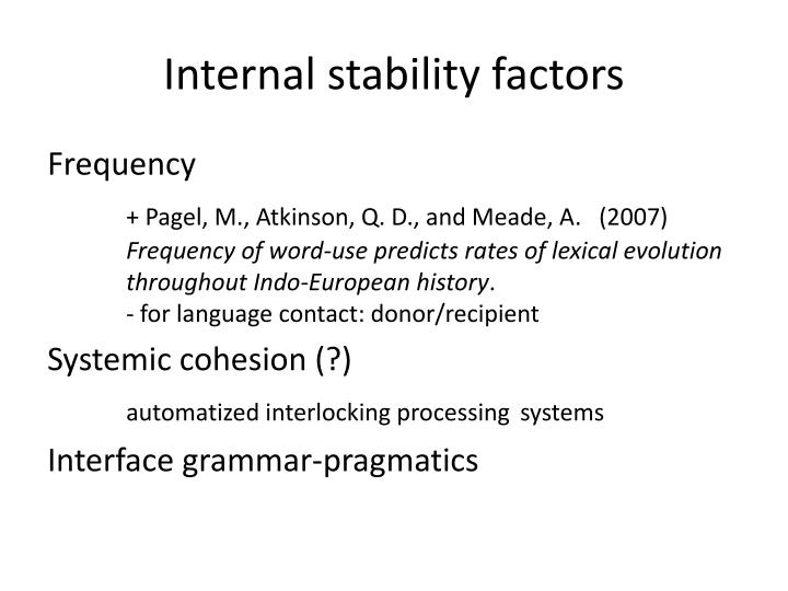 Internal stability factors
