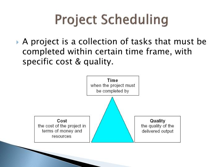 Project scheduling1