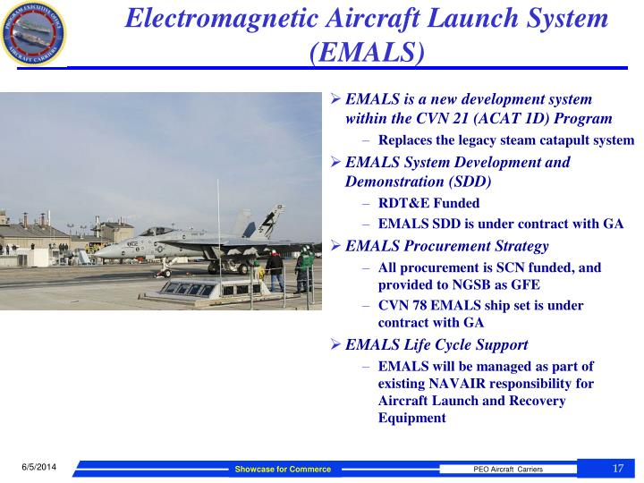 Electromagnetic Aircraft Launch System (EMALS)